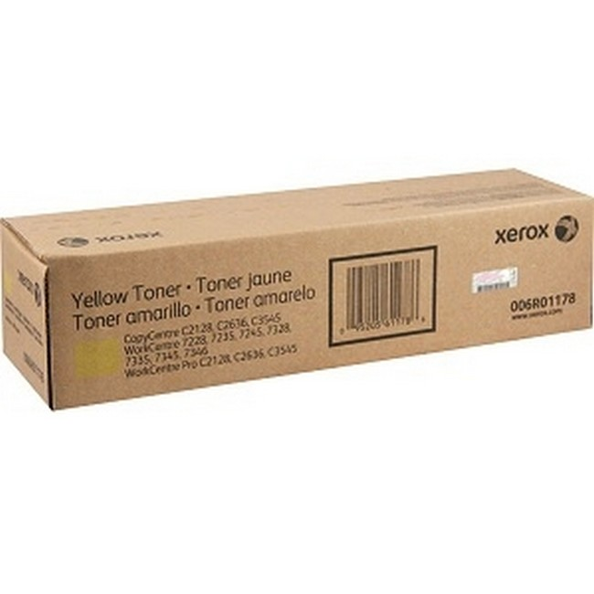 Brand New Original Xerox WorkCentre 7328 006R01178 6R1178 Yellow Toner Cartridge