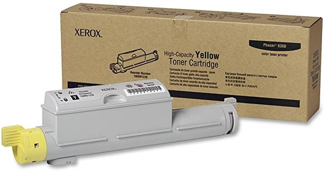 Brand New Original Xerox Phaser 6360 106R01220  Yellow High Yield Toner Cartridge