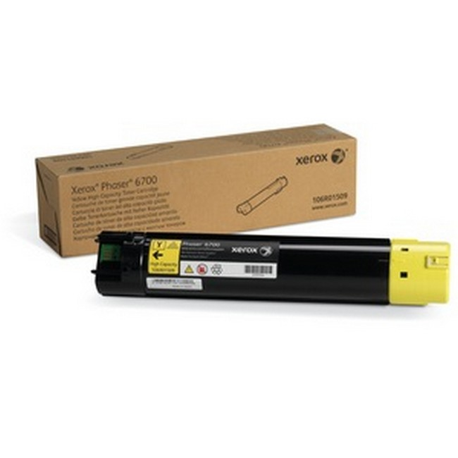 Brand New Original Xerox Phaser 6700 106R01509  Yellow High Yield Toner Cartridge