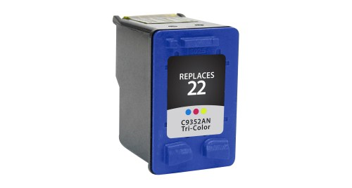HP 22 C9352AN Tri-Color Remanufactured Inkjet Cartridge