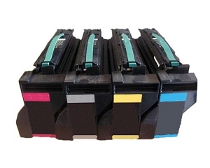 4 Pack Lexmark 15G032 K/C/M/Y C752, C762 Compatible High Yield Print Cartridges