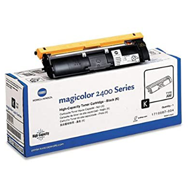 Brand New Original Konica Minolta 1710587-004  Black Toner Cartridge Magicolor 2400