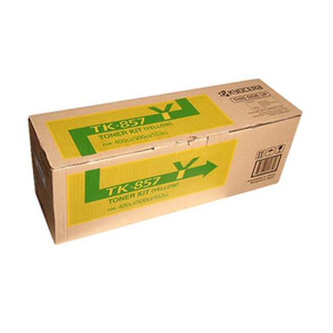 Brand New Original Kyocera Mita TK-857 1T02H7AUS0 TK857Y Yellow Toner Cartridge TASKalfa 400ci