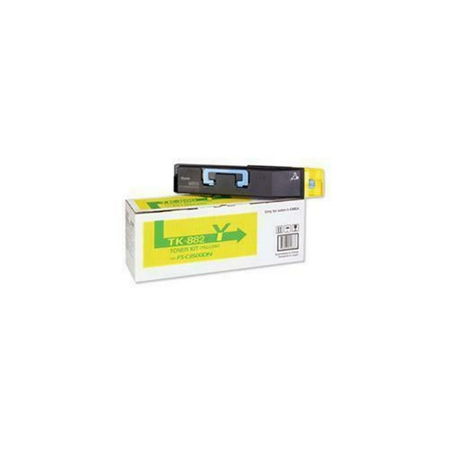 Brand New Original Kyocera Mita TK-882 1T02KAAUS0 TK882Y Yellow Toner Cartridge FS-C8500DN