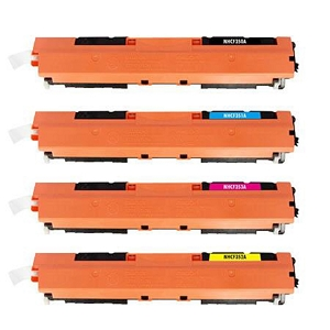 4 Pack HP 130A Black and Color Laser Toner Cartridges LaserJet Pro MFP M176N, M177FW, M177FX