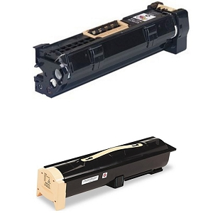2 Pack Xerox Phaser 5500, 5550 113R00670  113R00668  Laser Toner Cartridge and Drum Unit