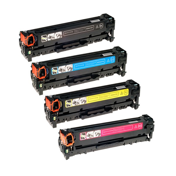 4 Pack HP 201X Color LaserJet Pro M252, MFP M277 Compatible High Yield Toner Cartridges