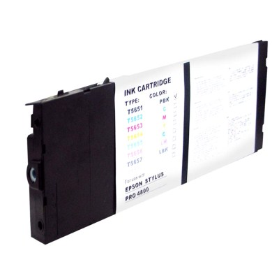 Epson T565 T565100 Photo Black Pigment Inkjet Cartridge Stylus Pro 4800