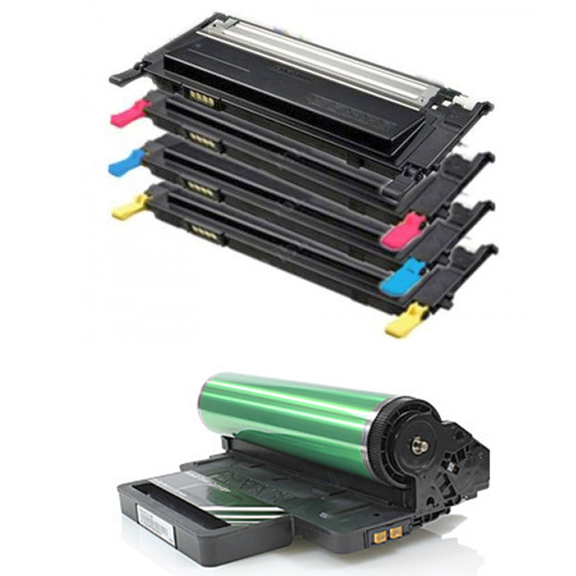 5 Pack Samsung CLT-409 CLP-310, CLP-315, CLX-3170, CLX-3175 Laser Toner Cartridges and Drum Unit