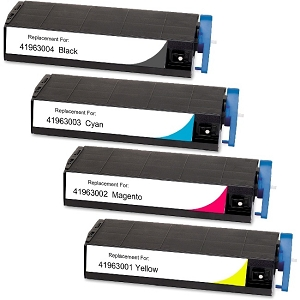 4 Pack Okidata 4196300 Compatible Toner Cartridges