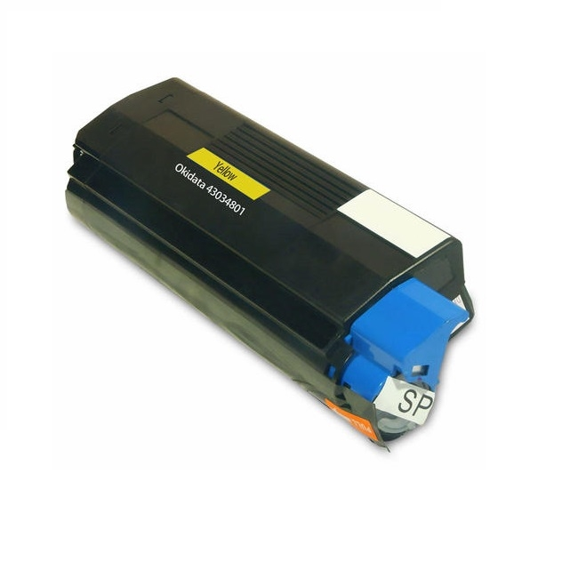 Okidata Type C6 43034801 Yellow Compatible Toner Cartridge C3100, C3200, C3200n