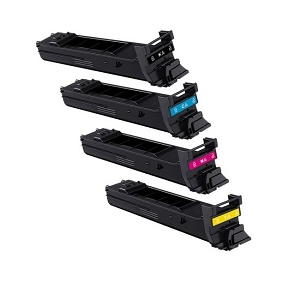 4 Pack Konica Minolta A0DK MagiColor  4650, 4690, 4695 High Yield Laser Toner Cartridges