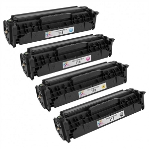 4 Pack Canon 118  BK/C/M/Y Laser Toner Cartridges ImageClass LBP7200C 7660C MF8300 Series