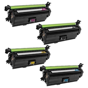 4 Pack HP 653A Color LaserJet Enterprise MFP M680z, M680dn, M680f Compatible High Yield Toner Cartridges