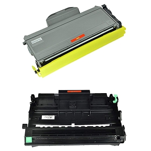 2 Pack Brother TN360 DR360 High Yield Toner Cartridge and Drum Unit