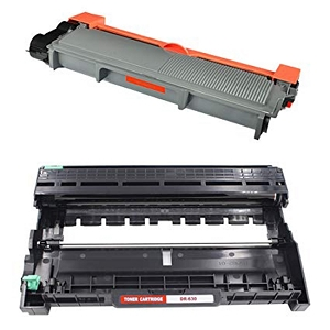 2 Pack Brother TN660 DR630 Laser Toner Cartridge and Drum Unit