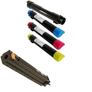 5 Pack Xerox WorkCentre 7425, 7428, 7435 Laser Toner Cartridges and Drum Unit