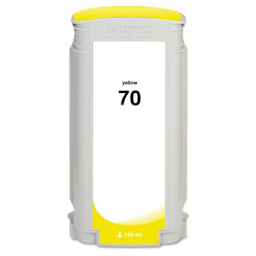 HP 70 C9454A Yellow Remanufactured Inkjet Cartridge DesignJet Z2100, Z3100, Z3200, Z5200, Z5400