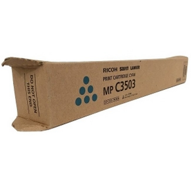 Brand New Original Ricoh 841816  Cyan Toner Cartridge MP C3003, C3004, C3503, C3504