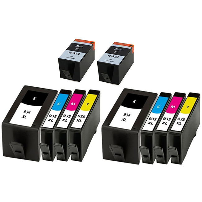 10 Pack HP 934XL Black 935XL C/M/Y OfficeJet 6812 6815 OfficeJet Pro 6230 6830 6835 Compatible High Yield Inkjet Cartridges