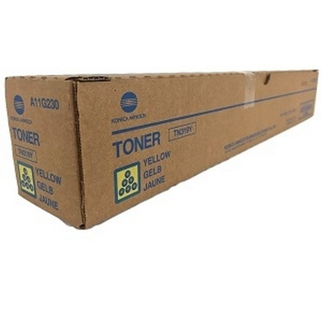 Brand New Original Konica Minolta TN-319 A11G230 TN319Y Yellow Toner Cartridge Bizhub C220, C280, C360