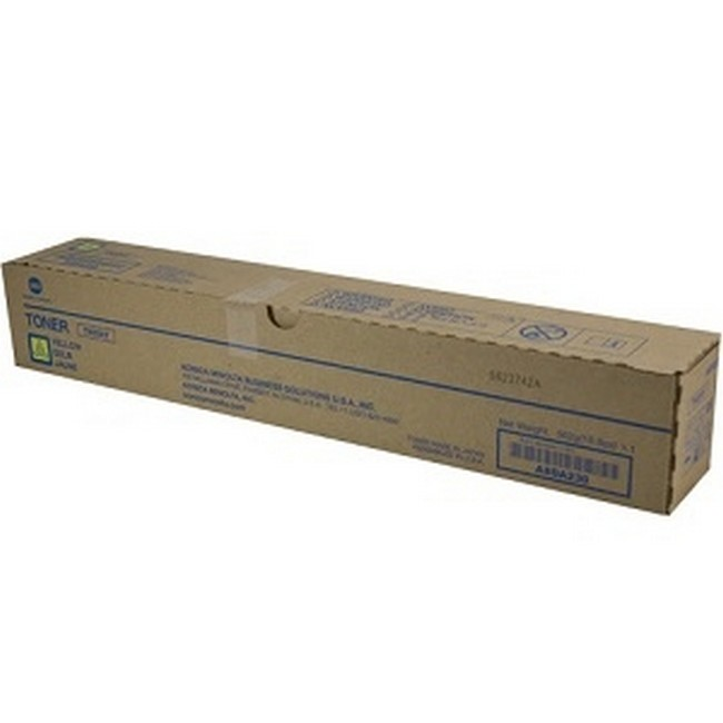 Brand New Original Konica Minolta TN324 A8DA230 TN324Y Yellow Toner Cartridge Bizhub C258, C308, C368