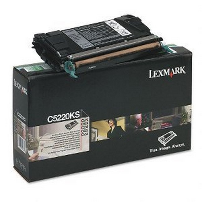 Brand New Original Lexmark C-524 C5220KS  Black Toner Cartridge C522, C524, C530, C532