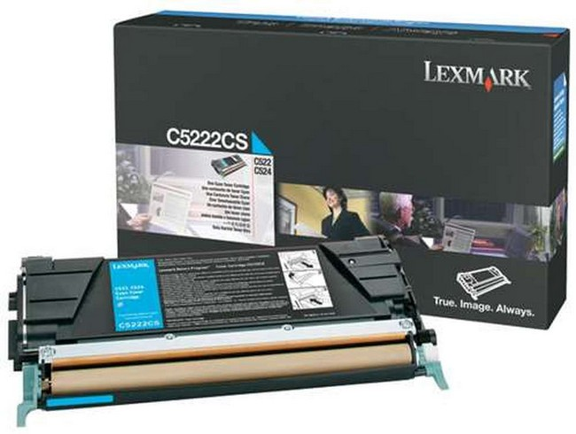 Brand New Original Lexmark C-524 C5222CS  Cyan Toner Cartridge C522, C524, C532, C534