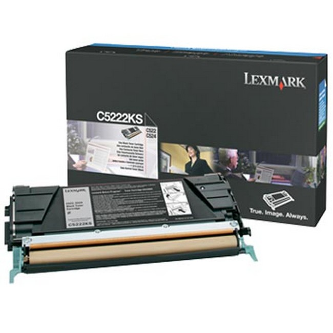 Brand New Original Lexmark C-524 C5222KS  Black Toner Cartridge C522, C524, C532, C534