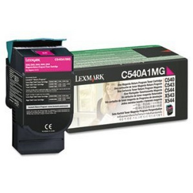 Brand New Original Lexmark C-540 C540A1MG  Magenta Toner Cartridge C540, C543, C544