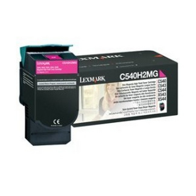 Brand New Original Lexmark C-540 C540H2MG  Magenta Toner Cartridge C540, C543, C544