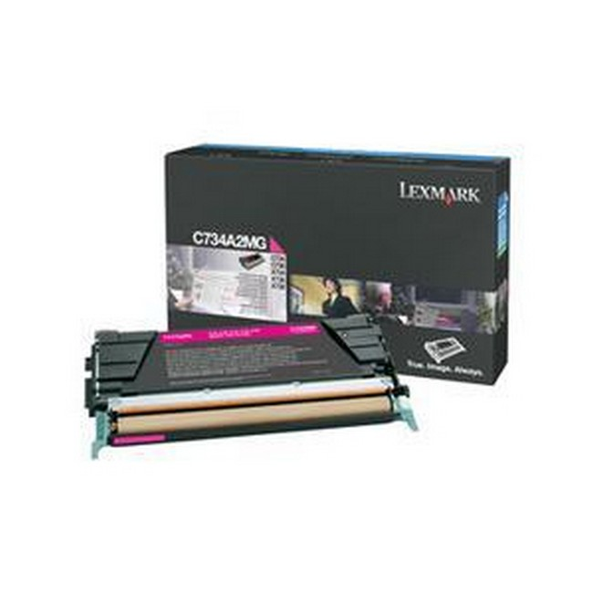 Brand New Original Lexmark C-734dn C734A2MG  Magenta Toner Cartridge C734, X734, X736, X738