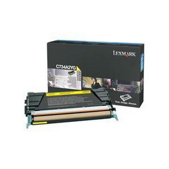 Brand New Original Lexmark C-734dn C734A2YG  Yellow Toner Cartridge C734, X734, X736, X738