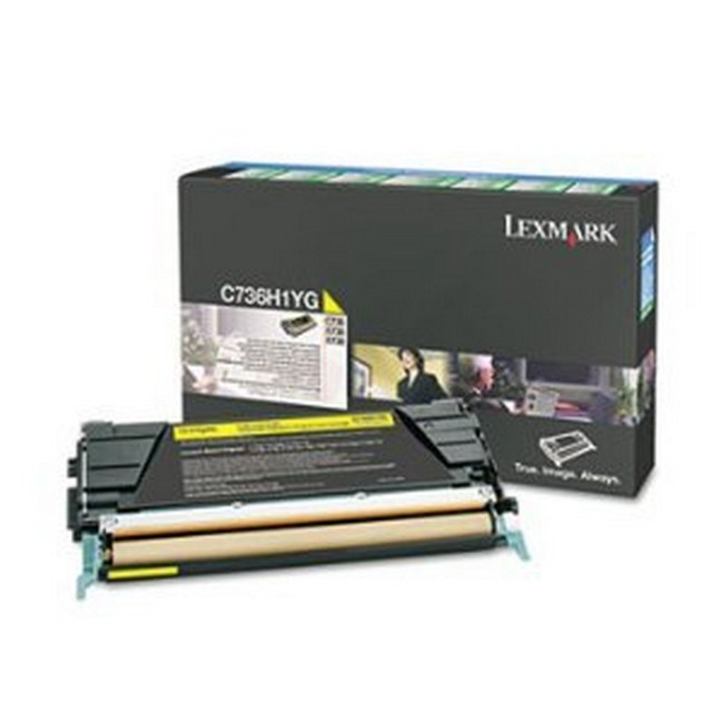 Brand New Original Lexmark C-736dn C736H1YG  Yellow Toner Cartridge C736, X738