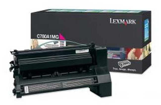 Brand New Original Lexmark C-782n C780A1MG  Magenta Toner Cartridge C780, C782, X782