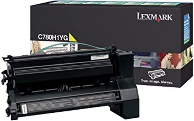 Brand New Original Lexmark C-782 C780H1YG  Yellow High Yield Toner Cartridge C780, C782, X782
