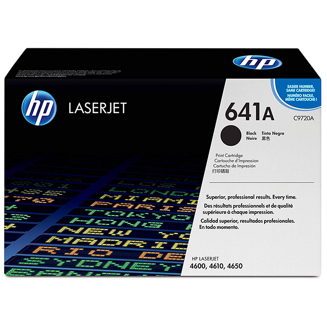 Brand New Original HP 641A C9720A Black Laser Toner Cartridge Color LaserJet 4600, 4650