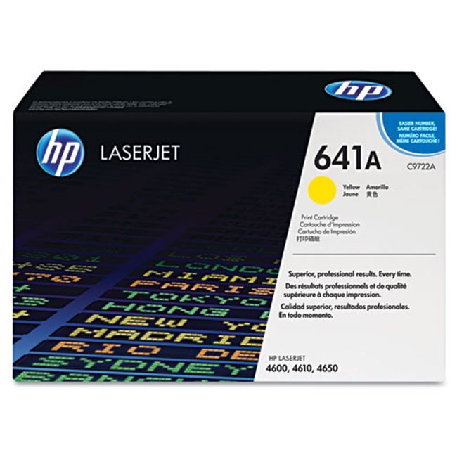 Brand New Original HP 641A C9722A Yellow Laser Toner Cartridge Color LaserJet 4600, 4650