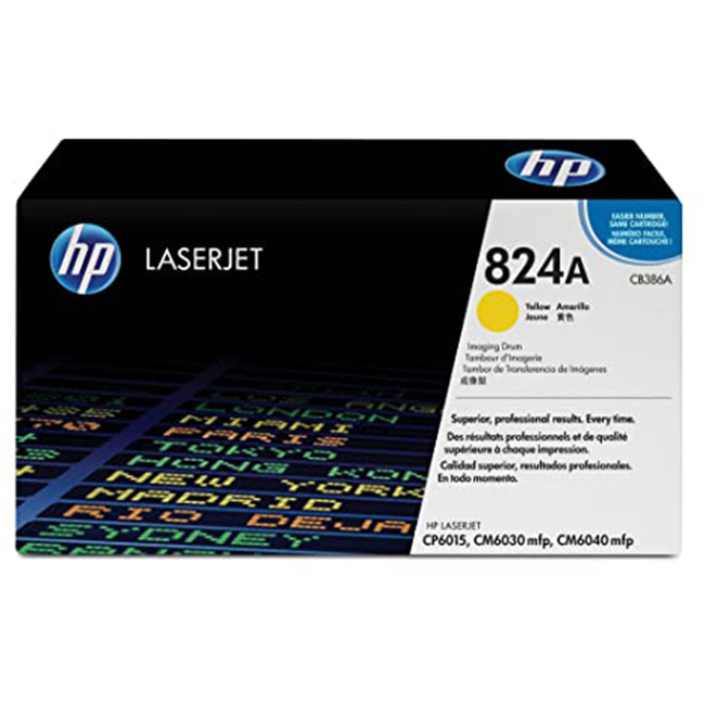 Brand New Original HP 824A CB386A Yellow Laser Drum Unit Color LaserJet CM6030, CM6040, CP6015