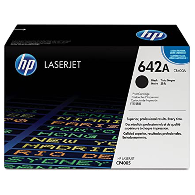 Brand New Original HP 642A CB400A Black Laser Toner Cartridge Color LaserJet CP4005dn
