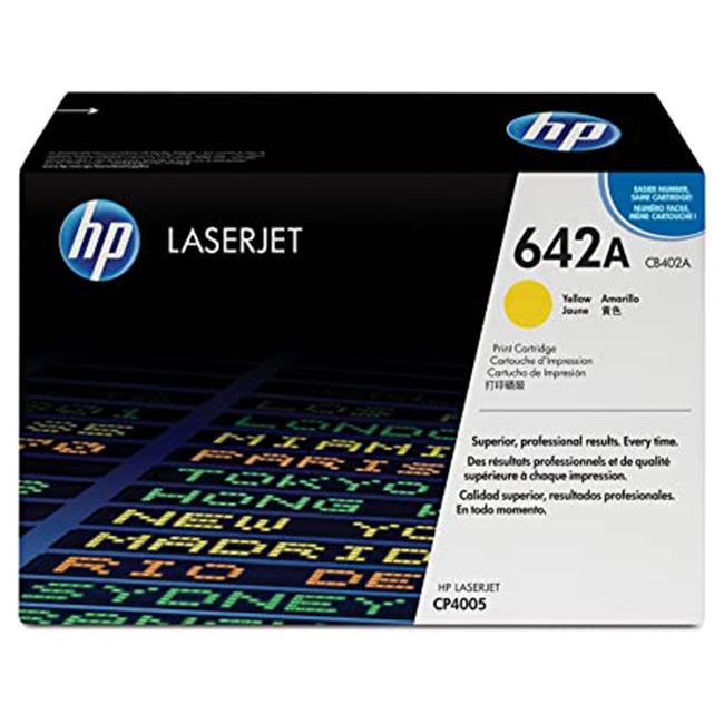 Brand New Original HP 642A CB402A Yellow Laser Toner Cartridge Color LaserJet CP4005dn