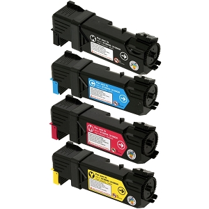 4 Pack Dell  Color Laser 2130CN, 2135CN Laser Toner Cartridges