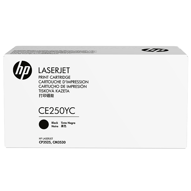 Brand New Original HP 504A CE250YC Black Optimized Contract Toner Cartridge Color LaserJet CM3530, CP3525, CP3530