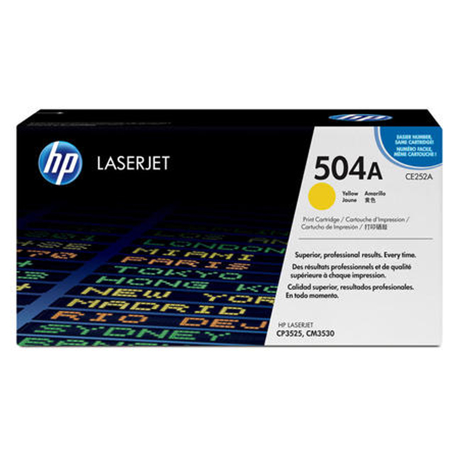 Brand New Original HP 504A CE252A Yellow Laser Toner Cartridge Color LaserJet CM3530, CP3525, CP3530