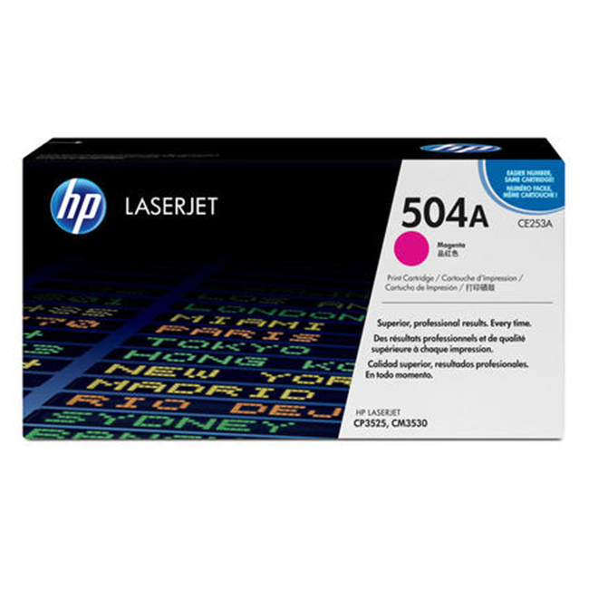 Brand New Original HP 504A CE253A Magenta Laser Toner Cartridge Color LaserJet CM3530, CP3525, CP3530