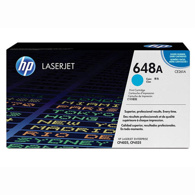 Brand New Original HP 648A CE261A Cyan Toner Cartridge Color LaserJet CP4025, CP4525