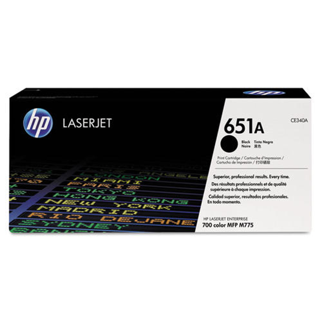 Brand New Original HP 651A CE340A Black Toner Cartridge LaserJet Enterprise 700 Color MFP M775, M775Z Plus