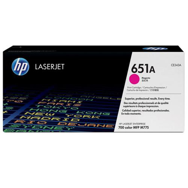 Brand New Original HP 651A CE343A Magenta Toner Cartridge LaserJet Enterprise 700 Color MFP M775, M775Z Plus