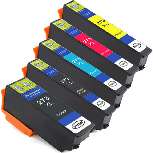 5 Pack Epson 273XL Photo Black Cyan Magenta Yellow Inkjet Cartridge T273 T273XL