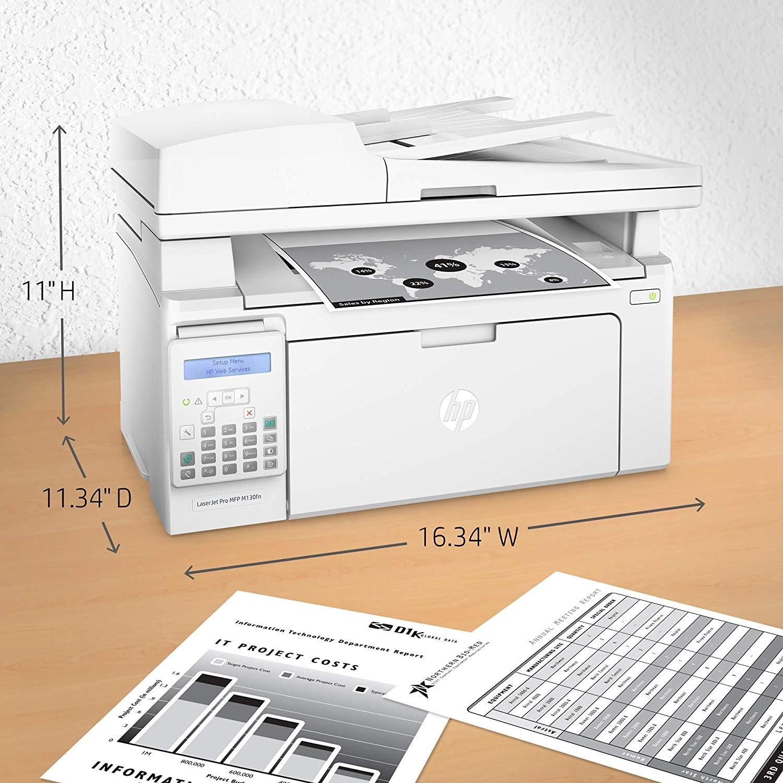 HP LaserJet Pro MFP M130fn Monochrome Printer with Scanner, Copier & Fax